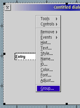 Group tool menu entry
